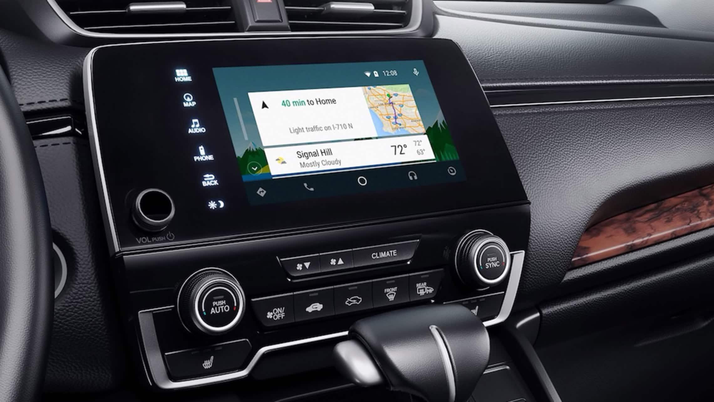 Sistema de audio en pantalla táctil con menú de integración con Android Auto™ en la Honda CR-V2019.