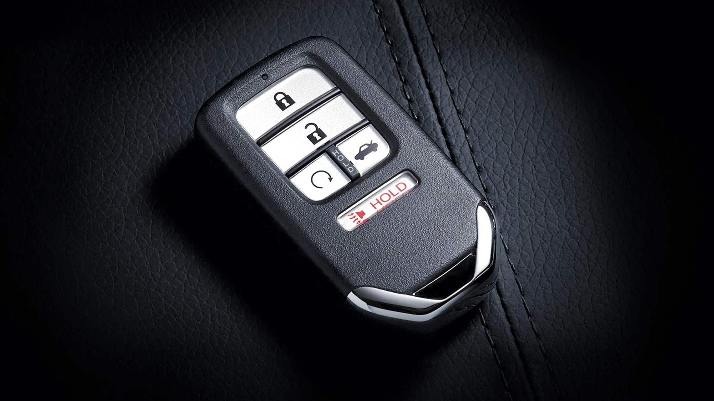 Detalle del llavero de encendido remoto del motor para el Honda Civic Sedán2020.